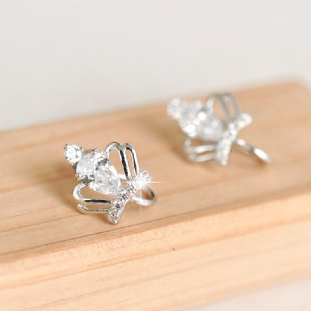 [925 Silver] Crown Earrings #BlackFridaySale