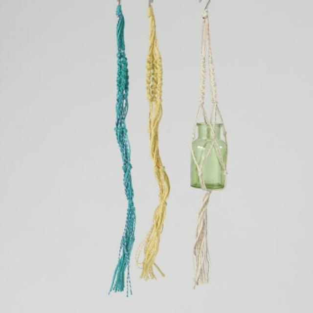 日本連線🐜🐜多肉 植物垂掛 衣架 (棉麻繩)共三色 不含瓶子