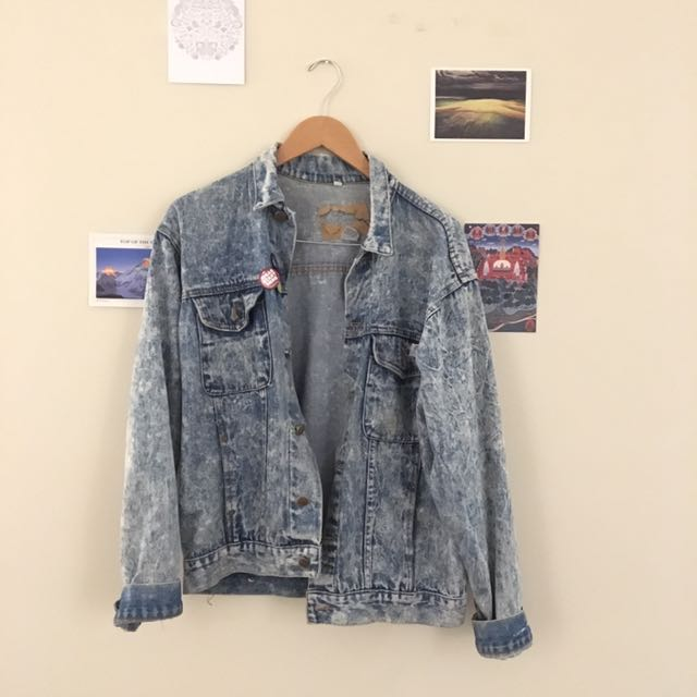 Acid wash Jean jacket