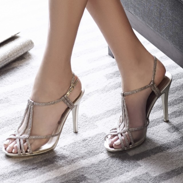 Alan Pinkus Silver Strappy Heel