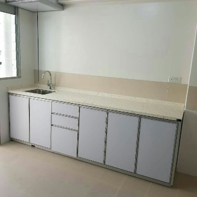 Aluminium Kitchen Cabinet 100u2030.water Resistant 100u2030 Termites Resistant 100u2030  Rust And Corrosion Resistant Lee Project Blk30 #01 263 Sin Ming Dr Call  96889409 ...