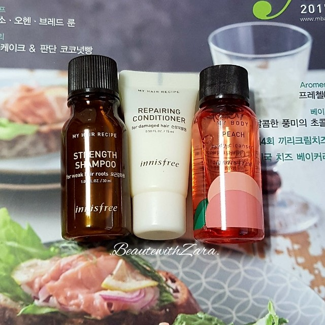 Authentic Innisfree My Hair Recipe and My Body