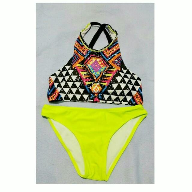 Aztec criss cross 2pc bikini