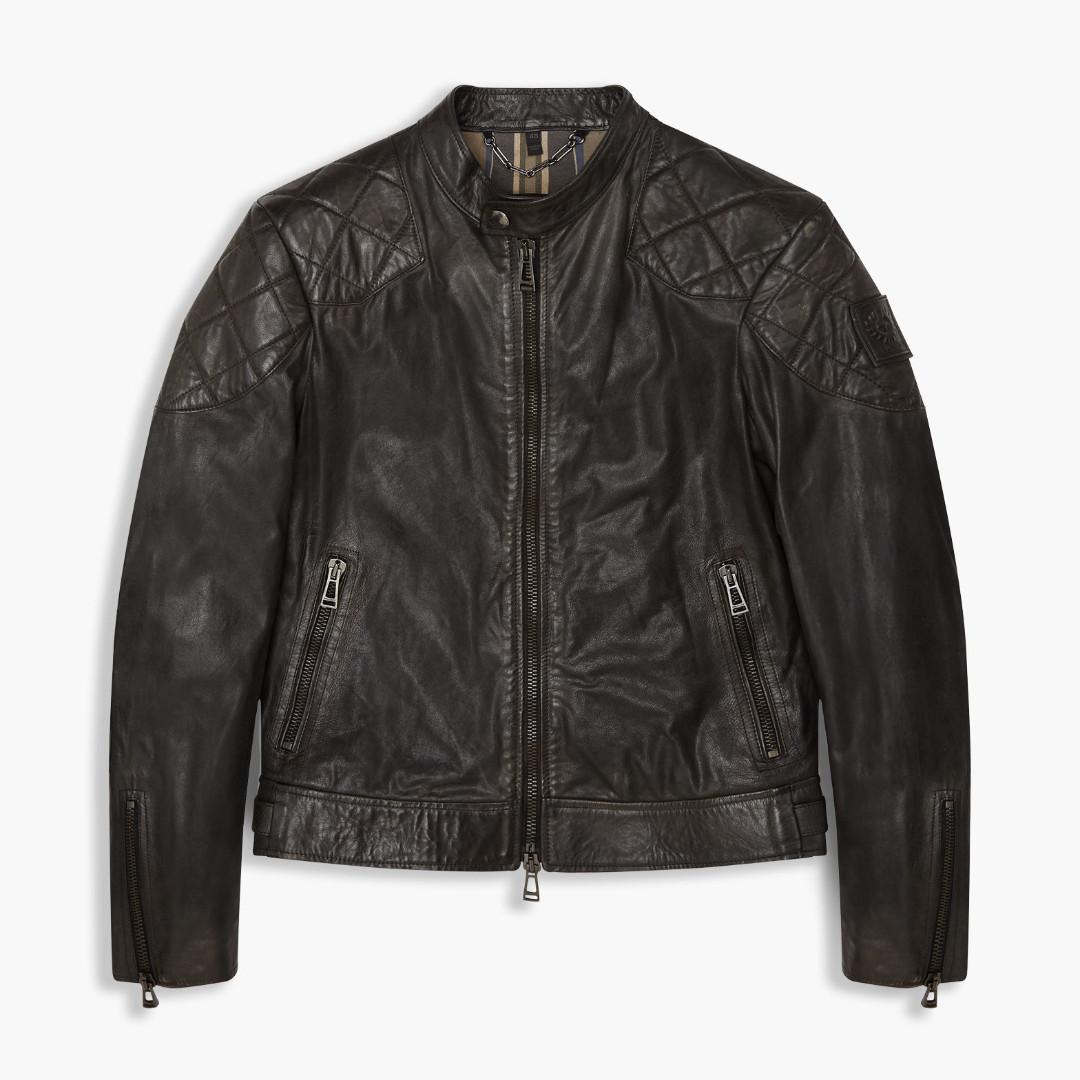 【現貨】英國Belstaff 貝克漢 Outlaw Leather Jacket 亡命之徒 皮衣 義製 黑色 IT46