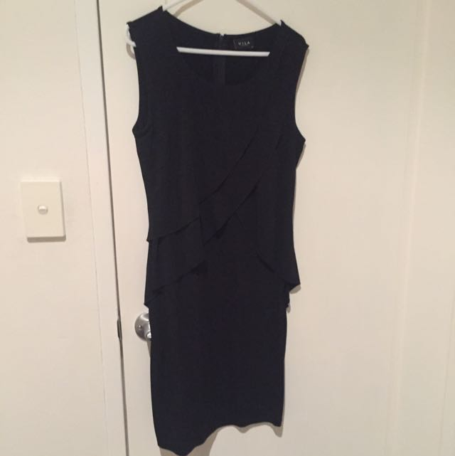 Black Dress With Ruffles
