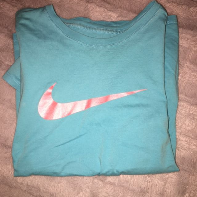 Blue and Pink Nike Top