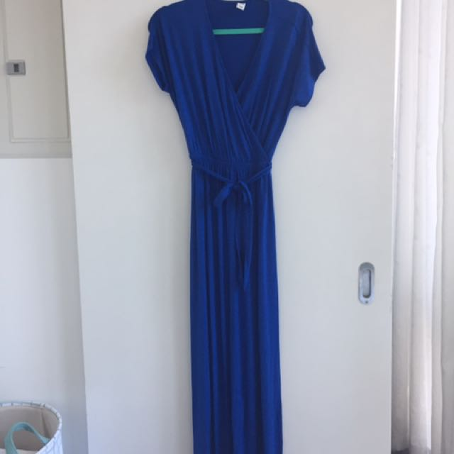 Blue maxi dress from old navy small
