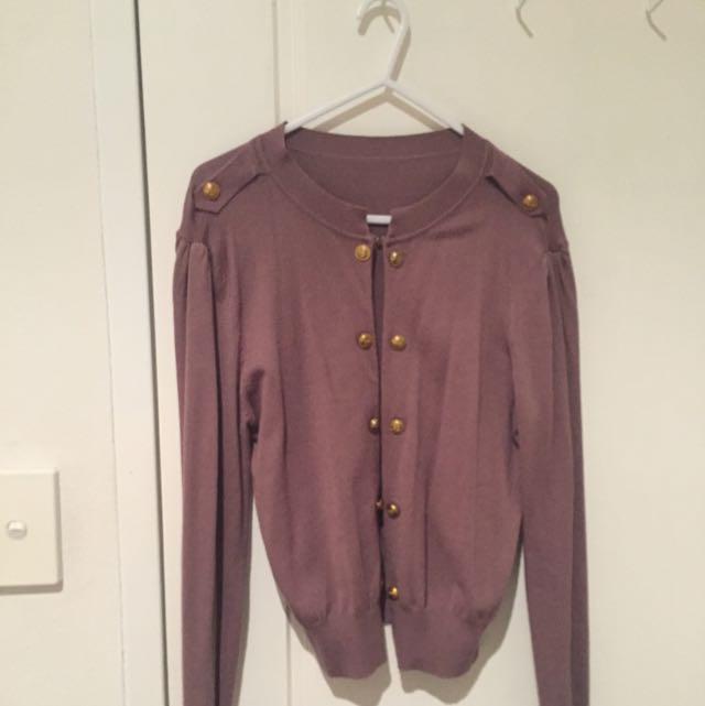 Brown Cardigan Size 8