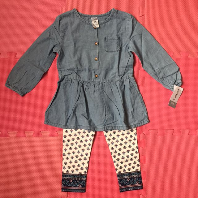 Carter's two-pieced chambray tunic legging set