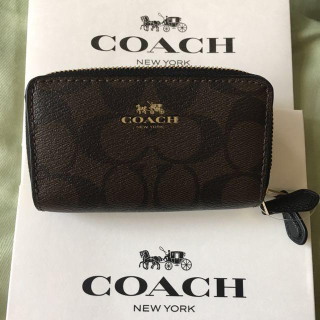 Coach Women Signature C Coin Wallet Double Zip, Women's