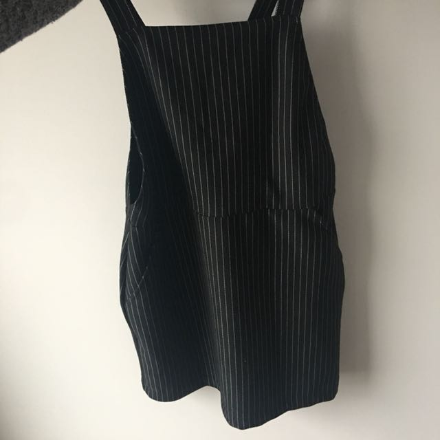 Contemporary Pinstripe Pinafore Dress