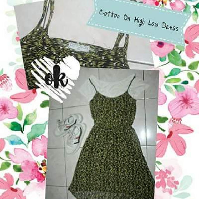 Cotton on high low dress