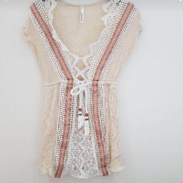 Cream Bohemian Dress