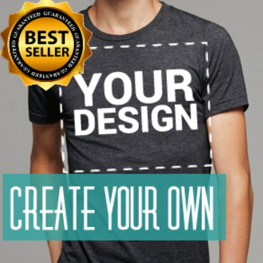 Print Your Design On T Shirt | Custom Design T Shirt Personalized Customized Tshirt Corporate Tee