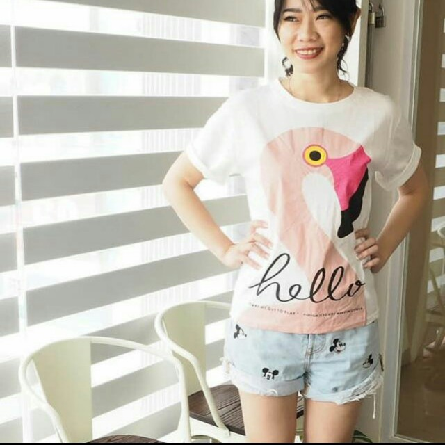 Flamingo Shirt White