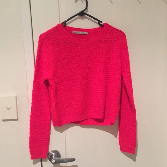 Fluro Pink Zara Knit Jumper