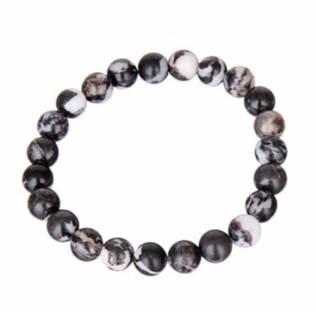 FREE ONGKIR* Gelang Batu Giok Alami / Natural Jade Stone Bracelet Warna Hitam