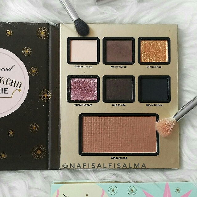 Gingerbread Cookie Eyeshadow Palette (pecahan Grande Hotel Cafe Set Too Faced Eyeshadow)
