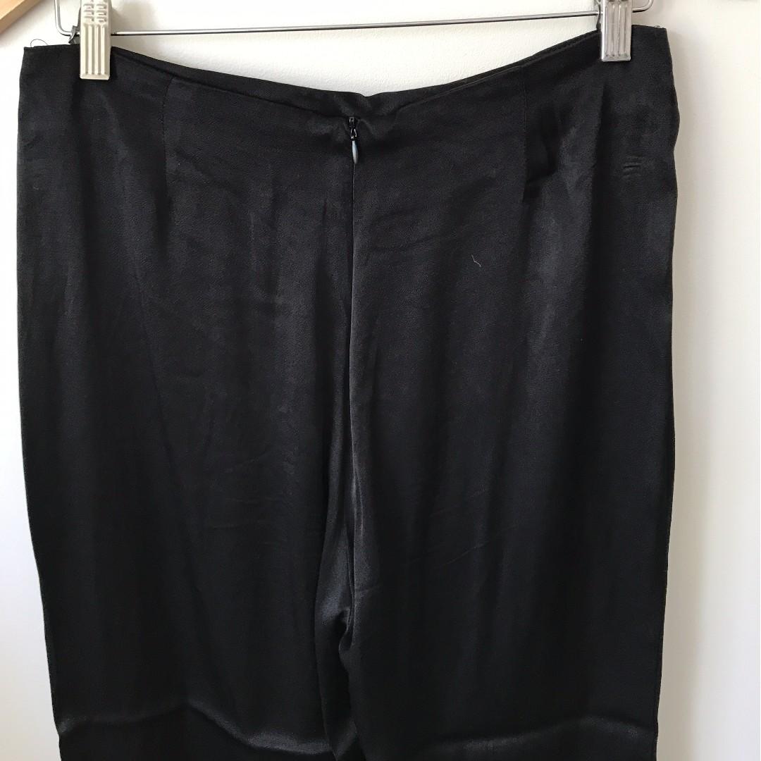 Glassons Black Silk Pants (Size 12)