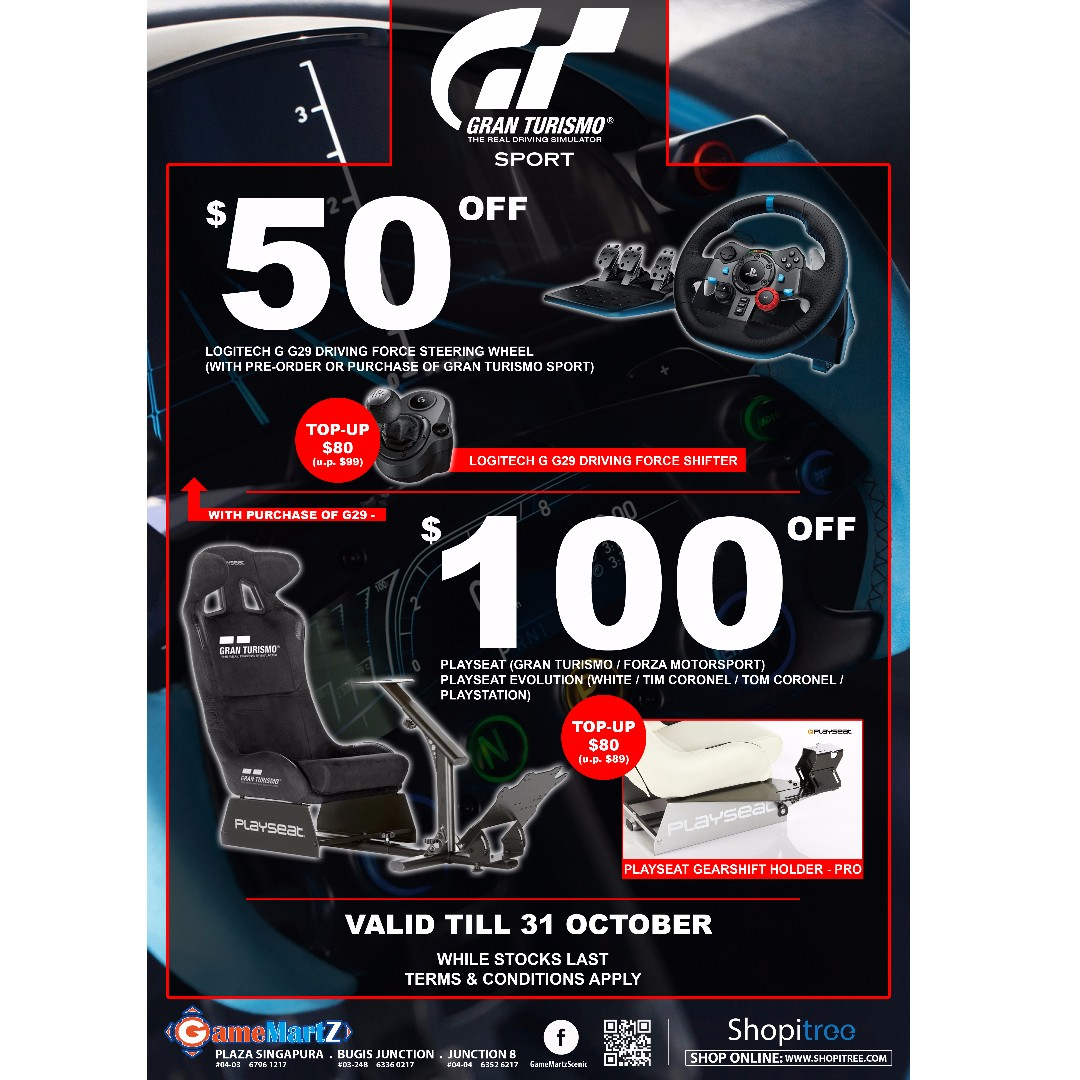 4f9835af11e (Gran Turismo Sport Special Deal), Toys & Games, Video Gaming, Gaming  Accessories on Carousell