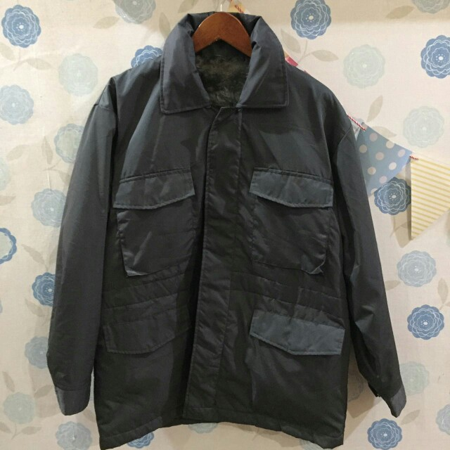 Grey Parka 4 pocket