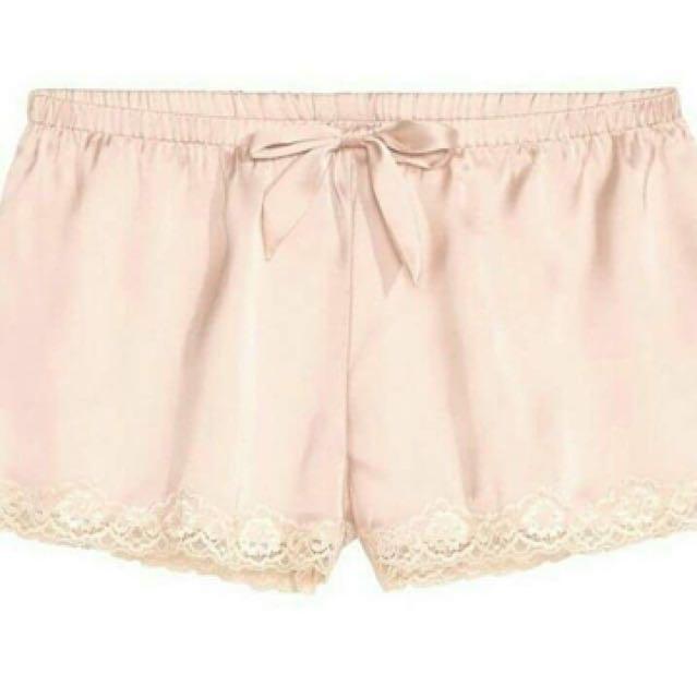 H&M Short Pajamas Peach Lace