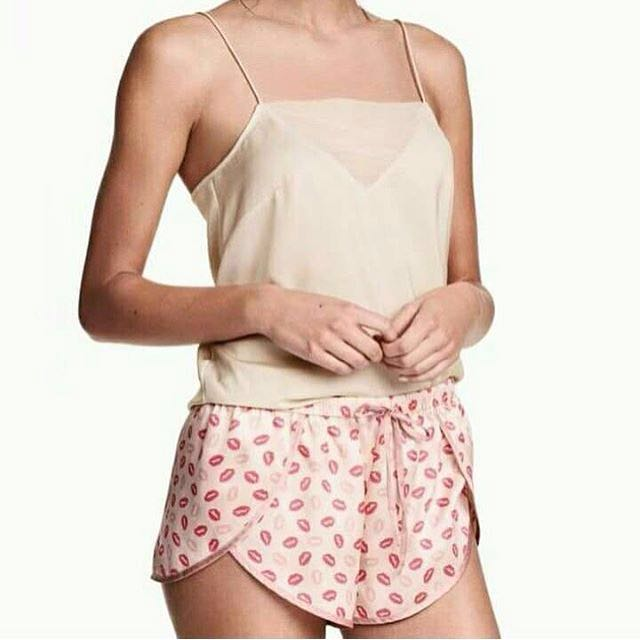 H&M Short Pajamas Pink Kiss