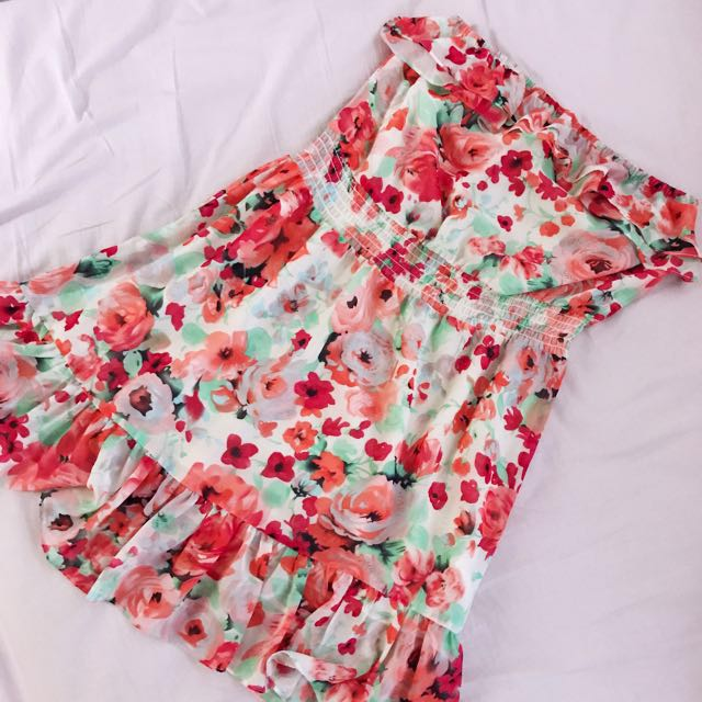 H&M tubed ruffled dress