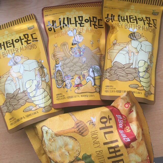 Honey butter almond // Churros taste almond // Honey butter chips