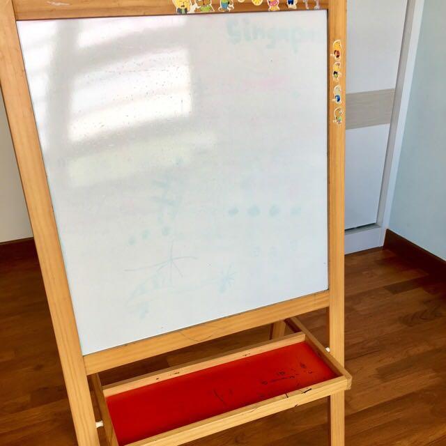 Ikea Easel Include Drawing Paper Roll N Chalks Babies Kids