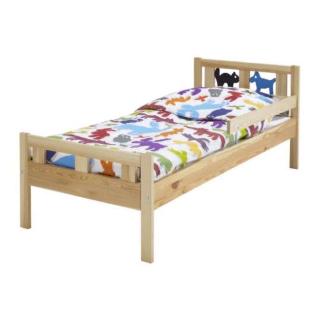 Ikea Junior Bed Frame (w mattress), Furniture, Beds & Mattresses on ...