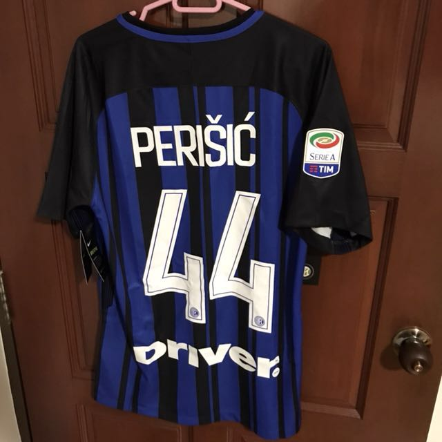 the latest a30f9 b0f3c Inter Milan Ivan Perisic 2017 Jersey, Sports, Sports Apparel ...