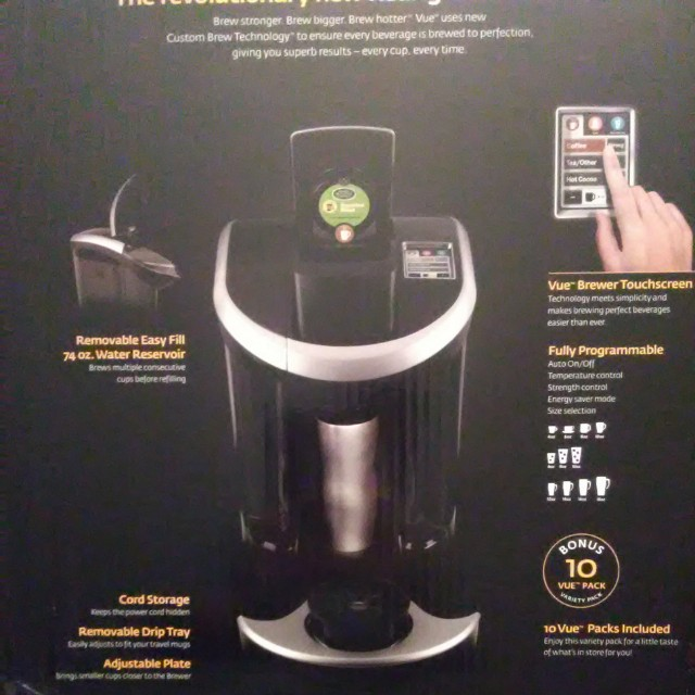 Keurig Vue V700 bonus bundle with reusable cups