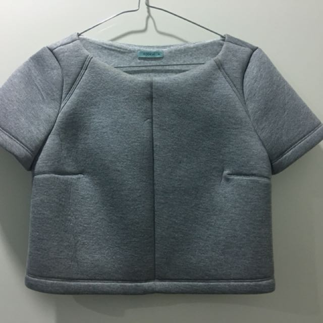 Kookai grey marle top