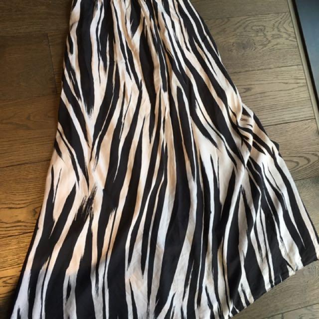 Kookai silk maxi skirt