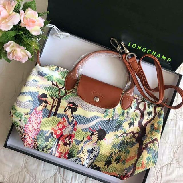 7c7d1960e54 Last piece!! Longchamp printed medium bag, Luxury, Bags & Wallets on  Carousell