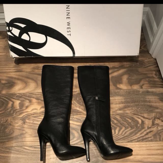 Leather High-heeled boots (Nine West)