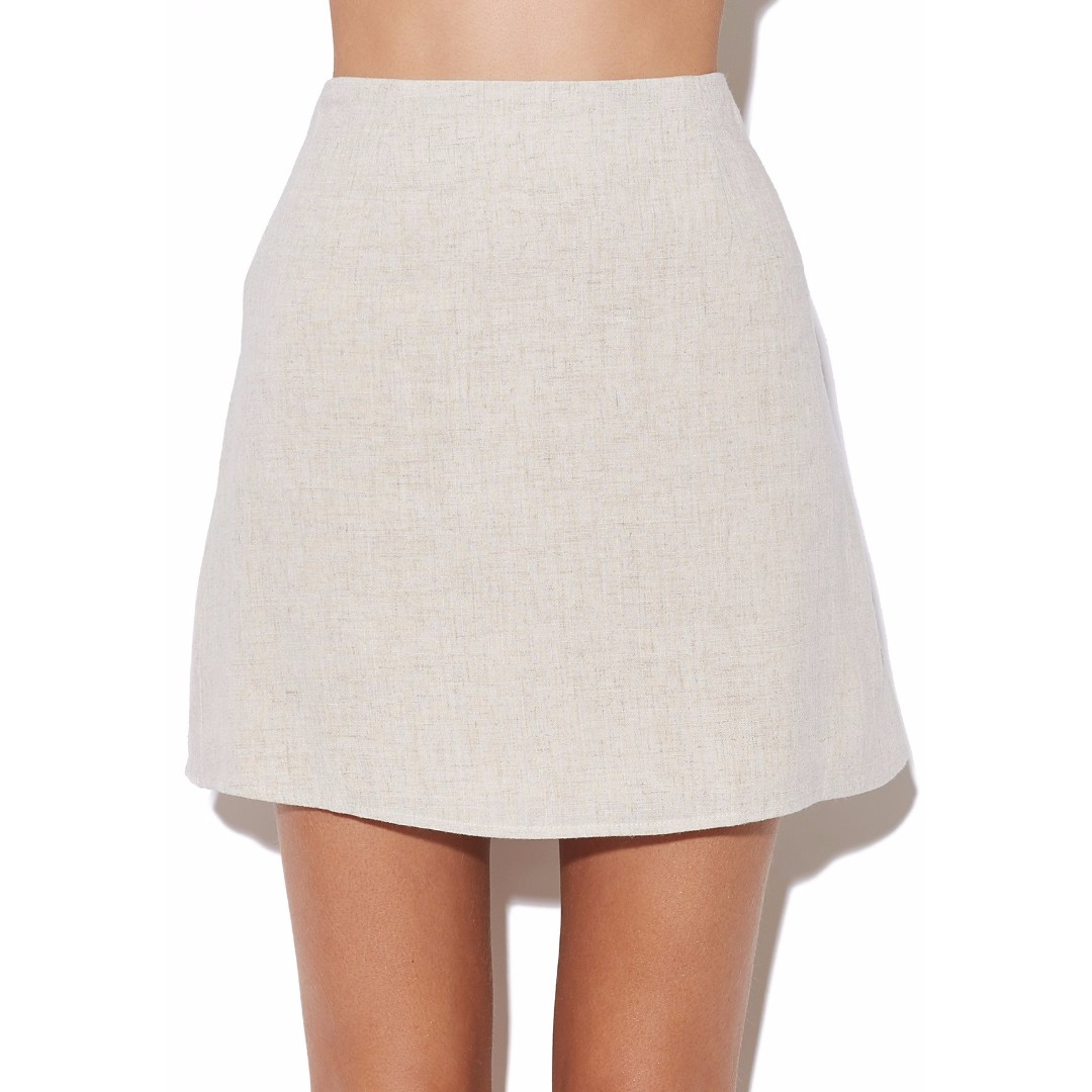 Linen Mini Skirt (Size 12)