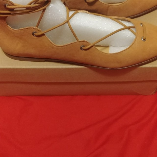 Lucky brand leather flats size 8.5