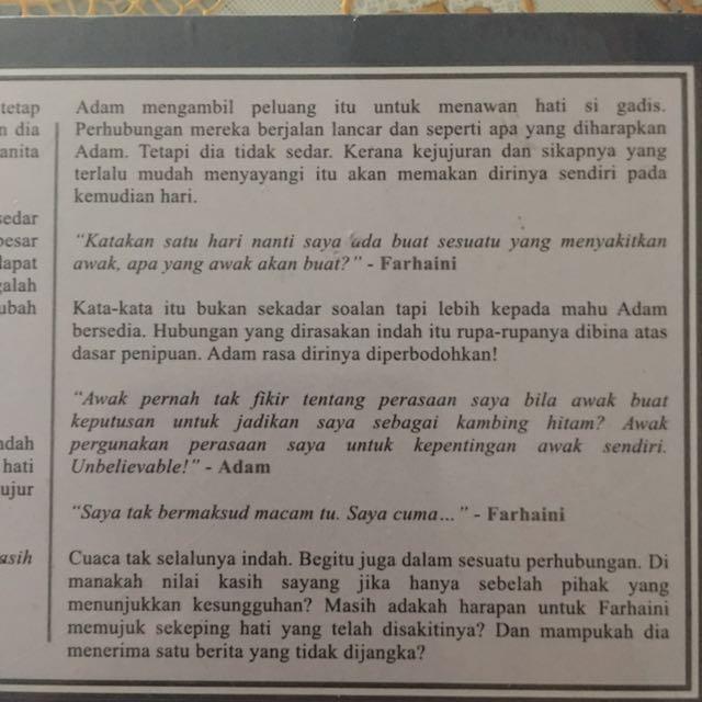 Malay Novel Hati Yang Tersakiti Books Stationery