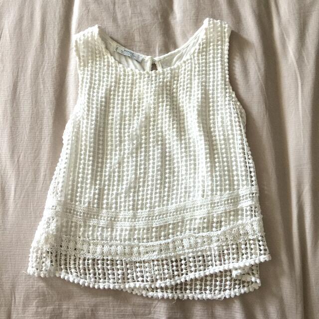 Mango Crochet Top