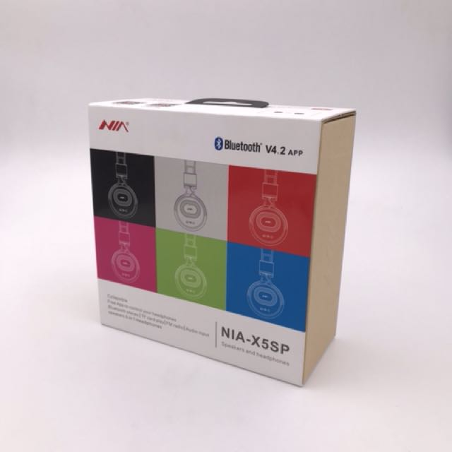 NIA-X5SP Bluetooth Speakers and headphones