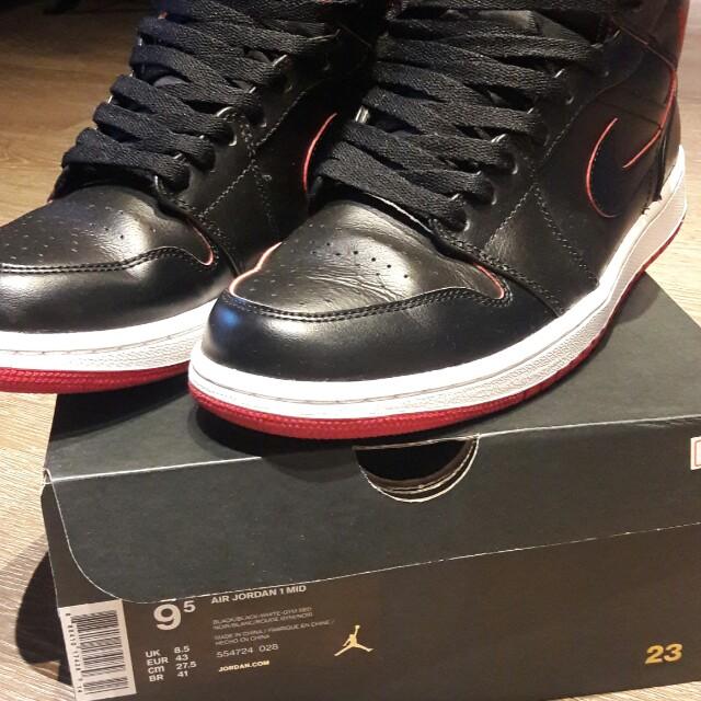 Nike Air Jordan 1代 黑紅經典配色 #手滑買太多