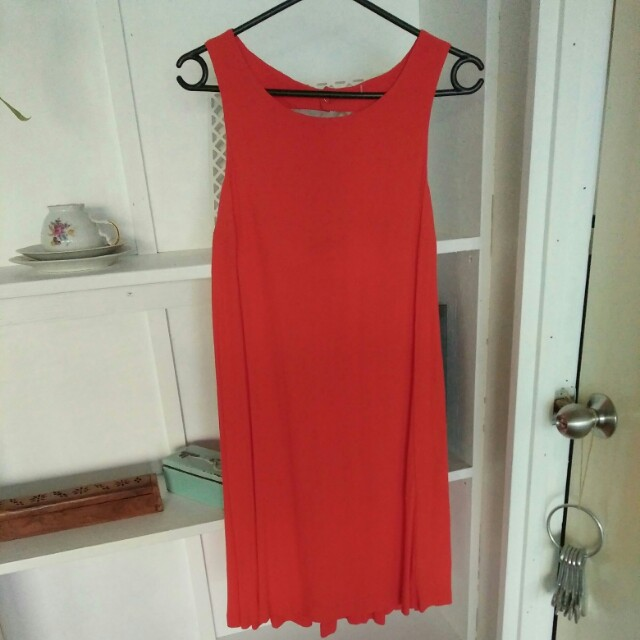 Orange shift dress 6-8