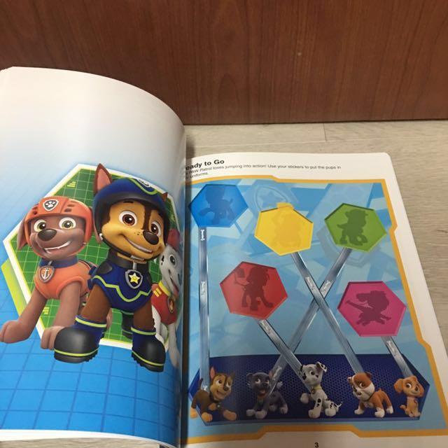 Paw Patrol Sticker Book, Babies & Kids, Toys & Walkers on