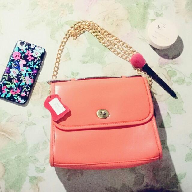 Peach Sling Bag