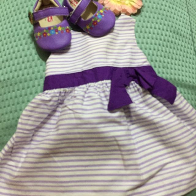 Periwinkle violet dress & Fisher Price shoes
