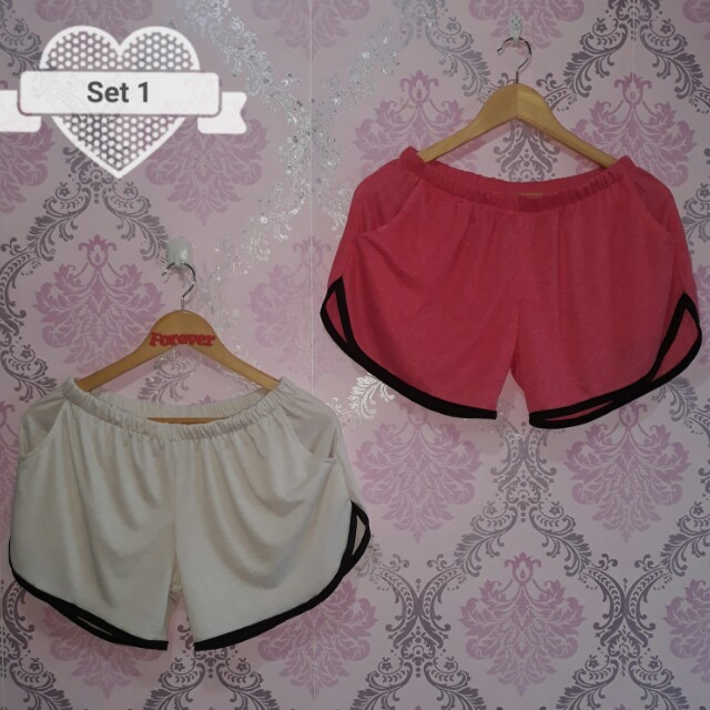 Plus size dolphin short pre pack