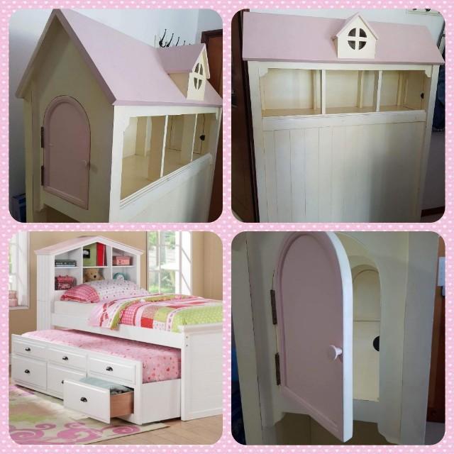 Pottery Barn Bed Frame For Little Girls Room Dollhouse Furniture