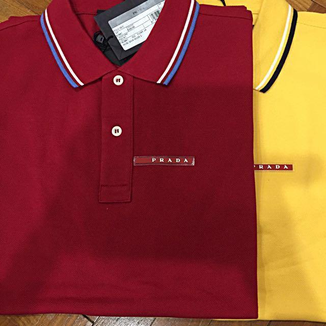 822af940 Prada Men's Polo Shirt, Men's Fashion, Clothes on Carousell
